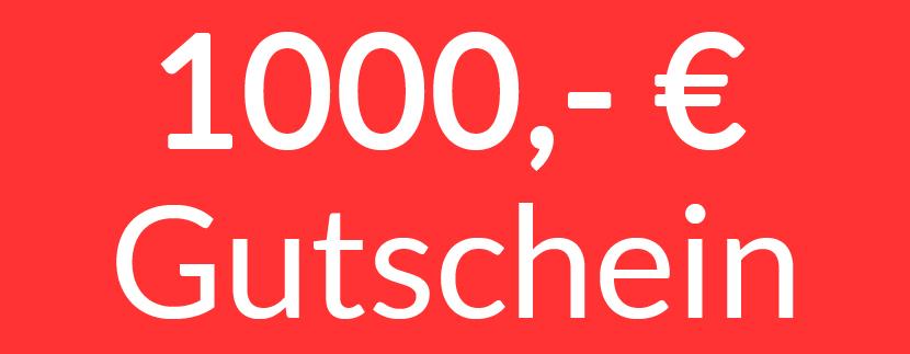 1000,- Euro Gutschein